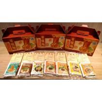 日曬麵-丁 (禮盒包裝) 乾拌麵綜合口味  七種口味 (各1包)+海帶芽調理湯包